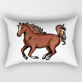Arabian Horse Arab Arabic Riding Pony Cartoon Drawing Rectangular Pillow