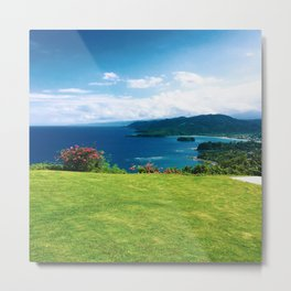 Color photo of Firefly view in Ocho Rios, Jamaica by Larry Simpson Metal Print