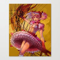 madoka Canvas Prints featuring Madoka by Raphaelle