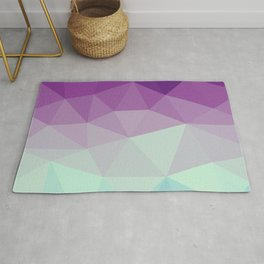 violet and blue polygon Rug