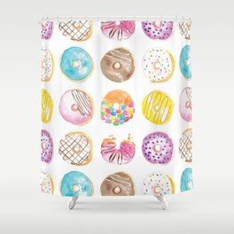 I Eat Donuts, Man Shower Curtain