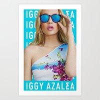 iggy azalea Art Prints featuring Iggy Azalea Blue by Illuminany
