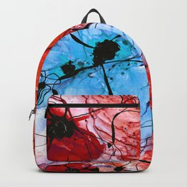 Red Flower Art - Wild Flowers - Sharon Cummings Backpack