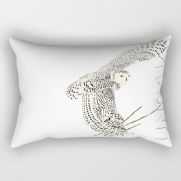 The Ungava Collection: The Snowy Owl Rectangular Pillow