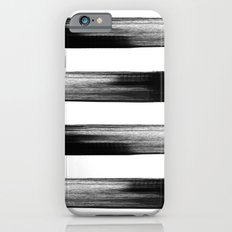 Japanese calligraphy stroke stripe -Zen style, black and white iPhone 6s Slim Case