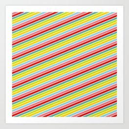 Happy Pattern Neck Gator Happy Stripes Art Print
