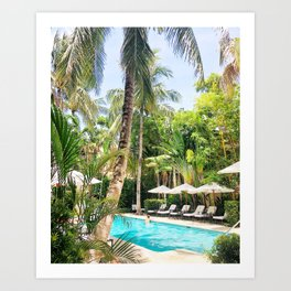 Brazilian Court Hotel pool Art Print