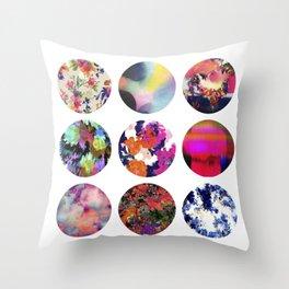 Flower Circles Throw Pillow