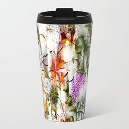 Abstract Motion Blur Floral Botanical Travel Mug