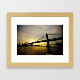 GW Bridge NYC Framed Art Print
