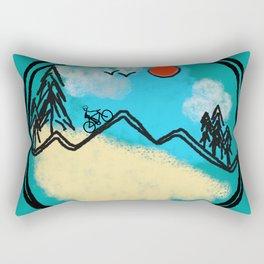Bike Happy Rectangular Pillow