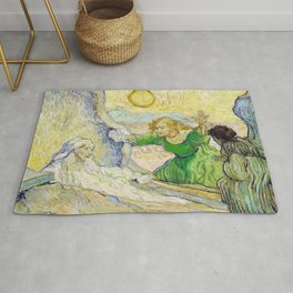 Vincent van Gogh - The raising of Lazarus, after Rembrandt - Digital Remastered Edition Rug