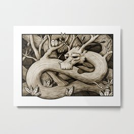 Tree Dragon Metal Print