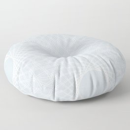 mathematical rotating roses - ice gray Floor Pillow