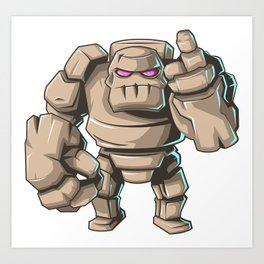 Clash of Clans The Mighty GOLEM Art Print