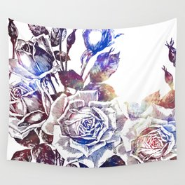 Rose Bloom Nebula Wall Tapestry