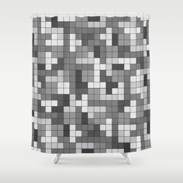 Tetris Camouflage Urban Shower Curtain