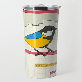 Great Tit Travel Mug