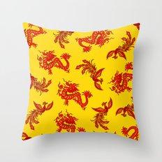Phoenix Dragon Feng Shui Throw Pillow