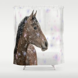 Magical Christmas Horse Shower Curtain