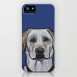 Huckleberry the yellow lab iPhone Case
