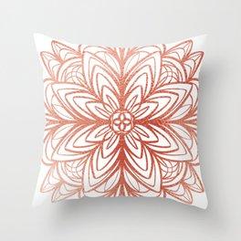 Mandala No.1 in Rose Gold Throw Pillow