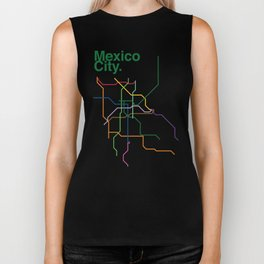 Mexico City Transit Map Biker Tank