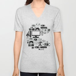 Gaming Console and Controller Unisex V-Neck
