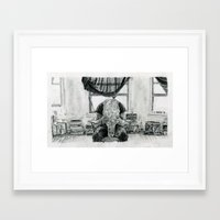 inner demons Framed Art Prints featuring Inner Demons by Art & Ink