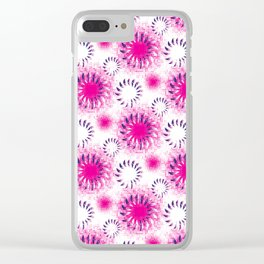 Fuchsia Twist Clear iPhone Case