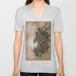 Enlightenment - Acrylic and Ink paint Unisex V-Neck