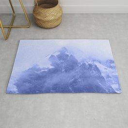 Rocky Mountain Fog Blue Rug