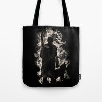 hunter x hunter Tote Bags featuring hunter by barmalisiRTB