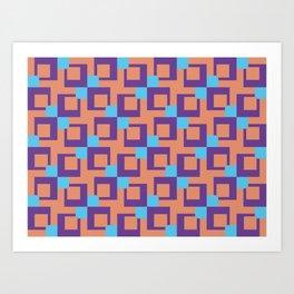Seamless colorful pattern 4 / abstract / geometric Art Print
