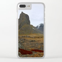 Red of the Fire Land Clear iPhone Case