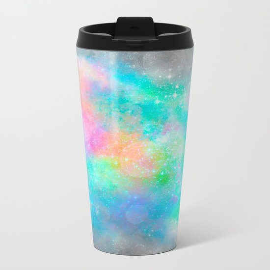 The Soul Becomes Dyed With the Colors of it's Thoughts (Galactic Watercolors) Metal Travel Mug