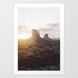 Sunrise over Monument Valley Art Print