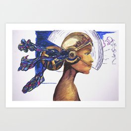Future Girl Art Print