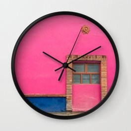 Mexican pink Wall Clock