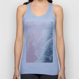 Blush Pink Blue Ocean Dream Waves #1 #water #decor #art #society6 Unisex Tank Top
