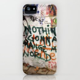 Nothin's Gonna Change My World - Lennon Wall iPhone Case