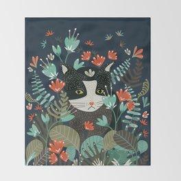 Curious Cat Throw Blanket