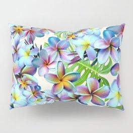 Rainbow Plumeria Pattern Pillow Sham