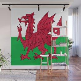 Flag of Wales,uk,great britain,dragon,cymru, welsh,celtic,cymry,cardiff,new port Wall Mural