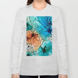 Modern Floral Art - Wild Flowers 2 - Sharon Cummings Long Sleeve T-shirt