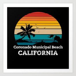 Coronado Municipal Beach CALIFORNIA Art Print