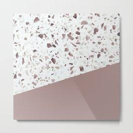 Terrazzo Texture Antique Pink #6 Metal Print