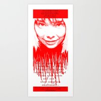 bjork Art Prints featuring BJORK by Andhika Tile