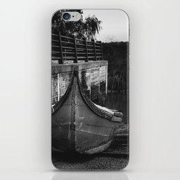 Resting boat (B&W) iPhone Skin