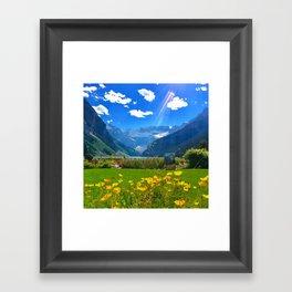 Lake Louise, Beautiful Day Framed Art Print